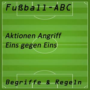 Fußball Eins gegen Eins