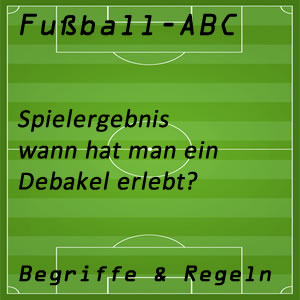 Fußball Fußballspiel Debakel
