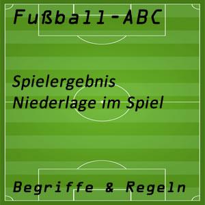 Fußballspiel Niederlage