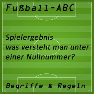 Fußball Fußballspiel Nullnummer