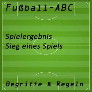 Fußballspiel Sieg
