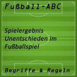 Fußball Fußballspiel Unentschieden