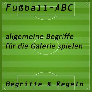 Fußball für die Galerie spielen