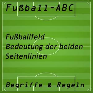 Fußballfeld Seitenlinien