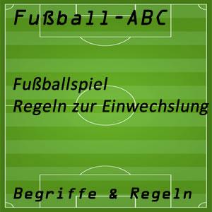 Fußball Fußballspiel Einwechslung