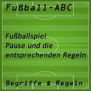 Fußball Halbzeitpause