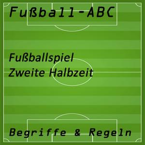 Fußball zweite Halbzeit