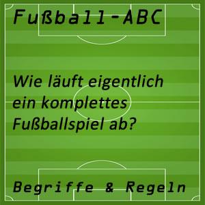 Fußballspiel Ablauf