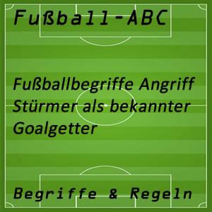 Fußball Goalgetter oder erfolgreicher Stürmer