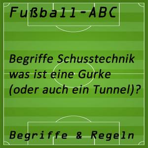 Fußball Gurke oder Tunnel