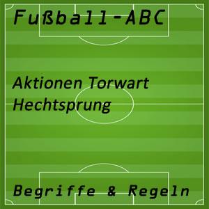 Fußball Aktionen Torhüter Hechtsprung