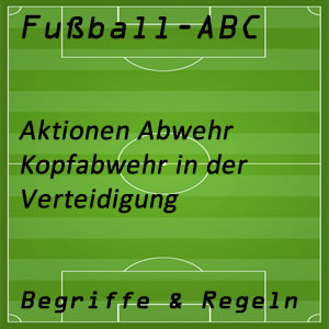 Fußball Kopfabwehr