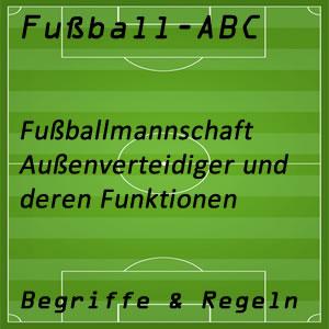 Fußballmannschaft Außenverteidiger