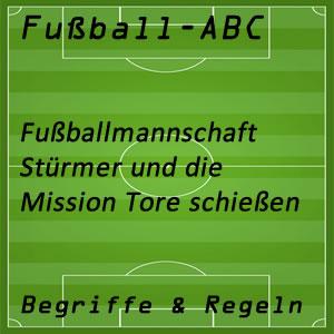 Fußball Stürmer
