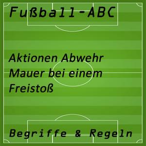 Fußball Mauer