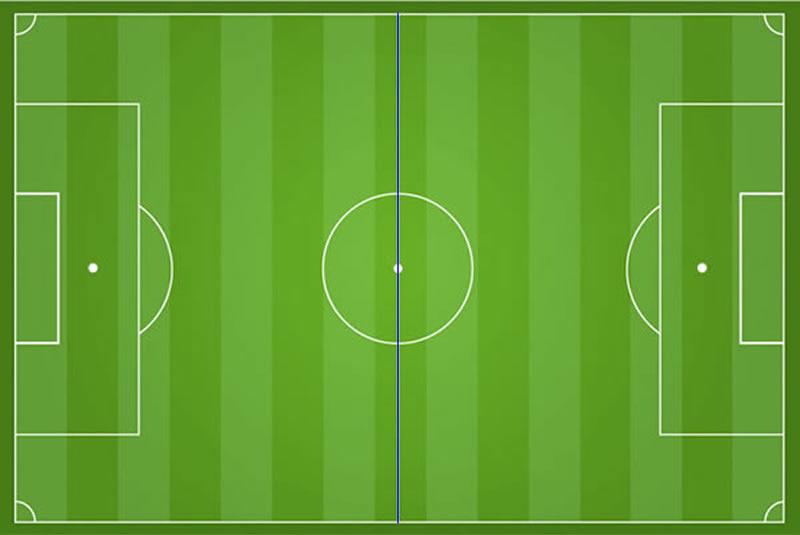 Fußball Mittellinie