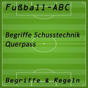 Fußball Querpass