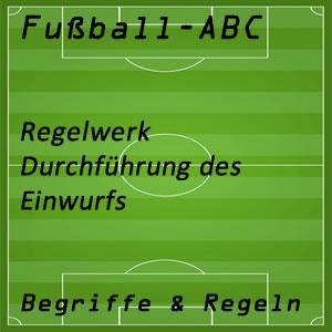 Fußballregeln Einwurf