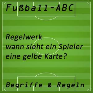 Fußballregeln Gelbe Karte
