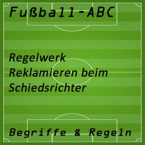 Fußballregeln reklamieren