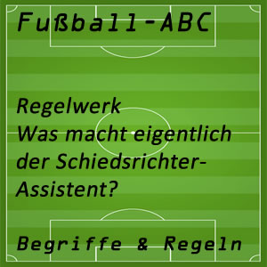 Fußballregeln Schiedsrichter-Assistent
