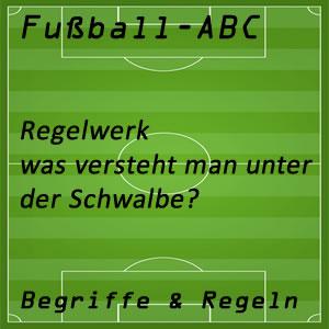 Fußballregeln Schwalbe