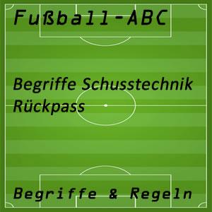 Fußball Rückpass