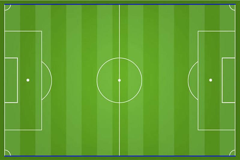 Seitenlinien am Fußballfeld