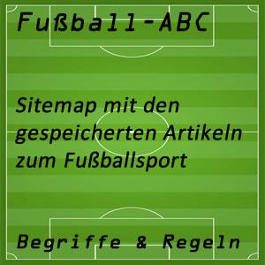 Sitemap Bereich Fußball