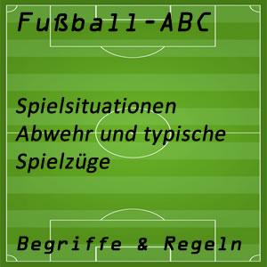 Fußball Aktionen Abwehr