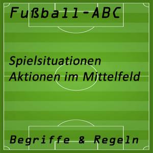 Fußball Spielsituationen Mittelfeld