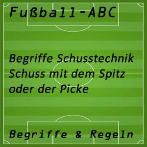 Fußball Spitz oder Picke