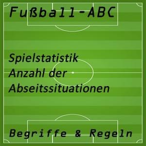 Fußballstatistik mit Abseitssituationen