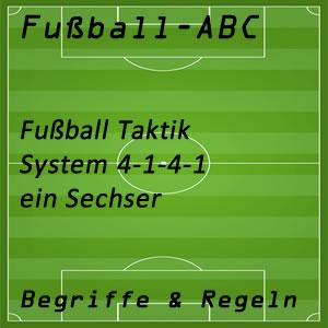 Fußball System 4-1-4-1