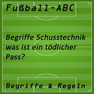 Fußball tödlicher Pass