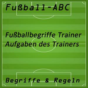 Fußball Begriffe Trainer
