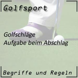 Golfschlag Abschlag