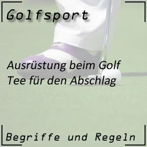 Golf Tee Hilfsmittel