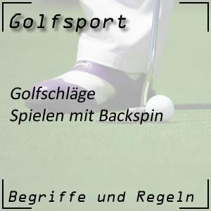 Golfschlag mit Backspin