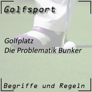 Bunker beim Golfen