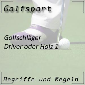 Golfschläger Driver oder Holz 1