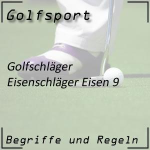 Golfschläger Eisen 9