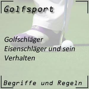 Golf Eisenschläger