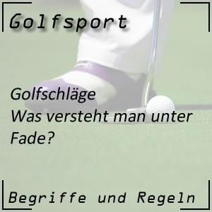 Golfschlag Fade