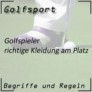 Golf Golfspieler Kleidung