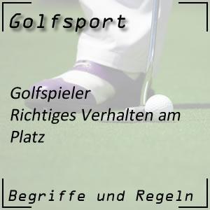 Golfspieler und Auftreten