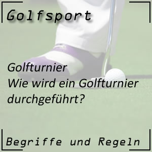 Golf Golfturnier Durchführung