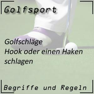 Golfschlag Hook