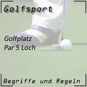Golf Golfplatz Par 5