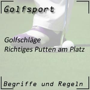 Golfschlag Putten